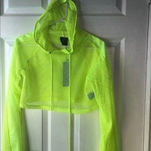 LF fishnet neon hoodie